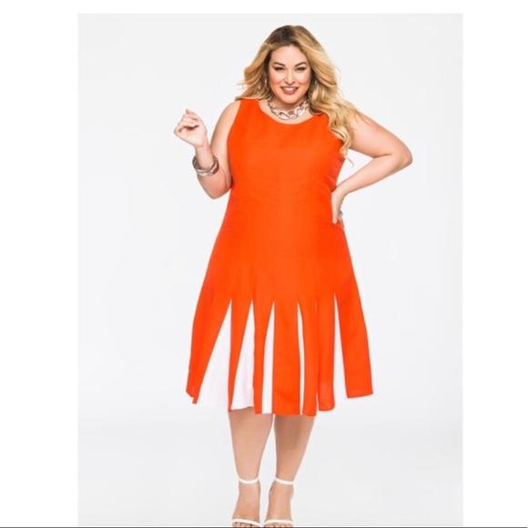 Ashley Stewart Dresses & Skirts - ASHLEY STEWARTS Color Block Inset Ramie Midi Dress